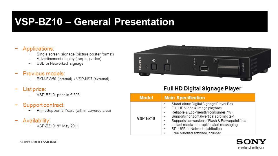 VSP-BZ10 Full HD Digital Signage Player  - ppt video online