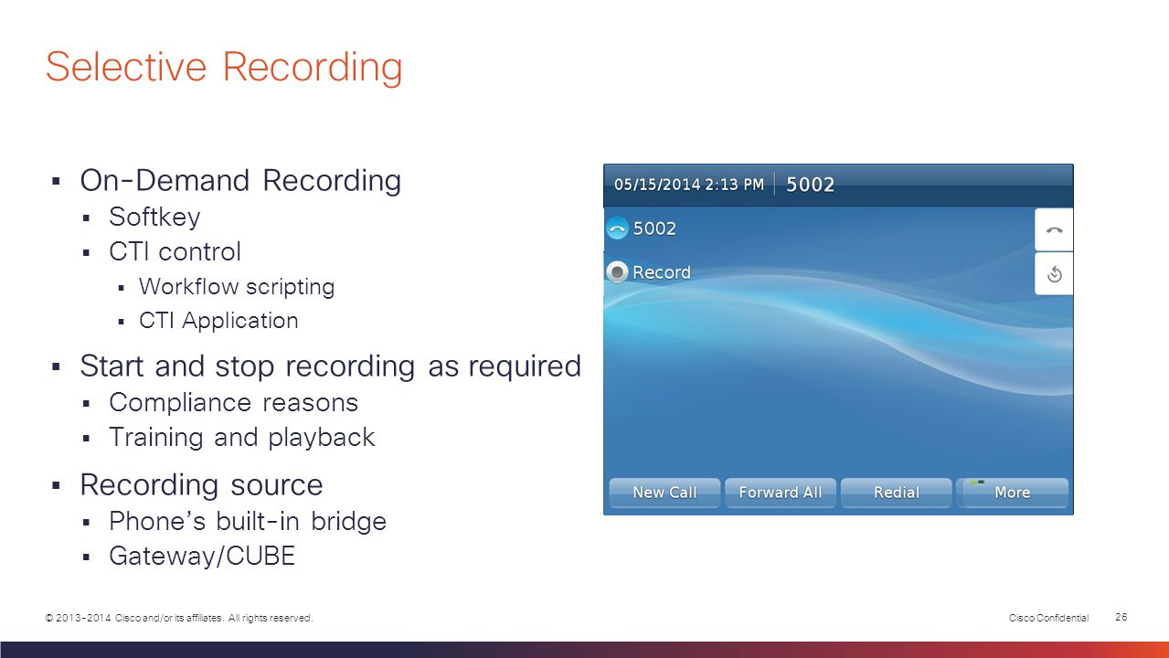 Calabrio Recording Controls Finesse