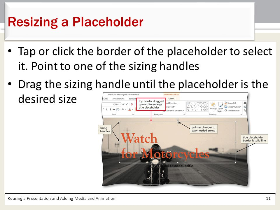Resizing a Placeholder