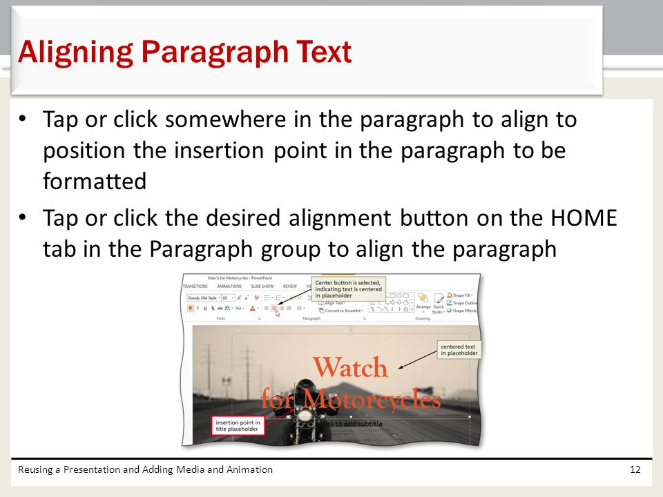 Aligning Paragraph Text