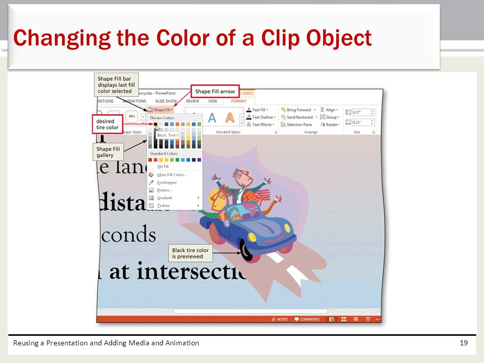 Changing the Color of a Clip Object