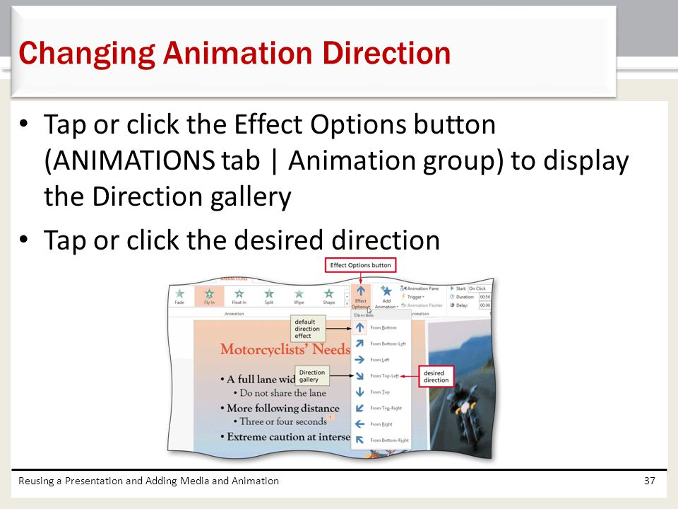 Changing Animation Direction