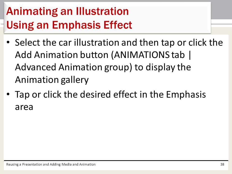 Animating an Illustration Using an Emphasis Effect