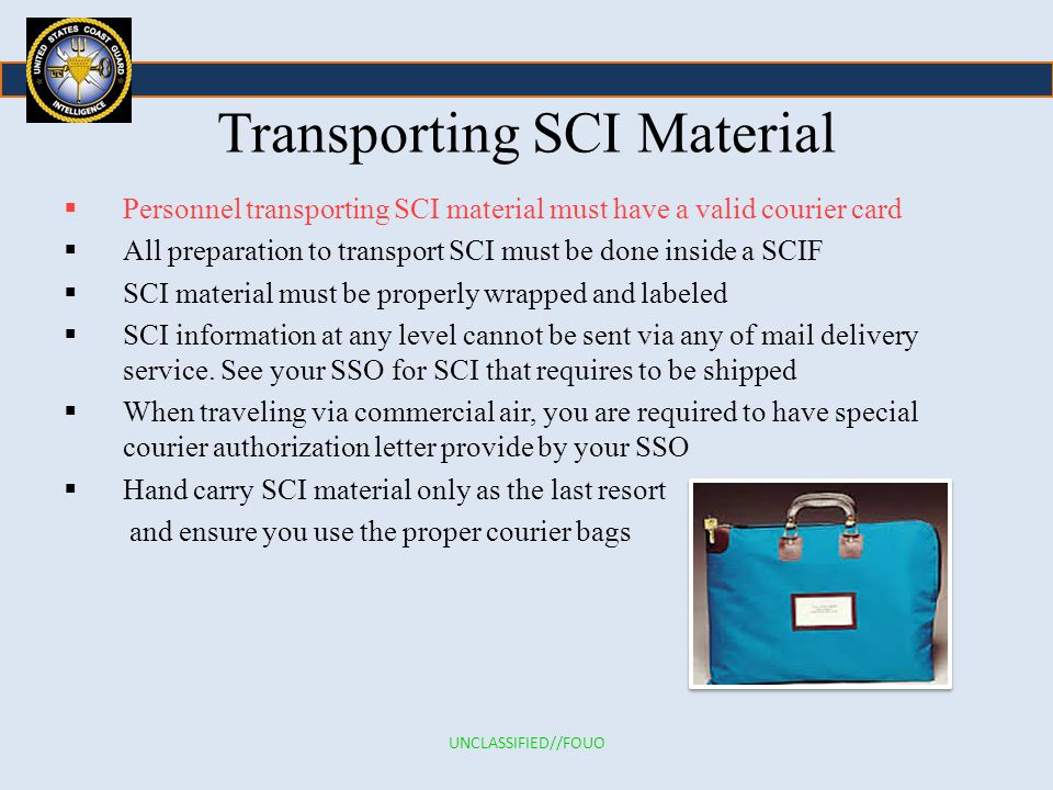 sensitive compartmented information  sci  annual refresher