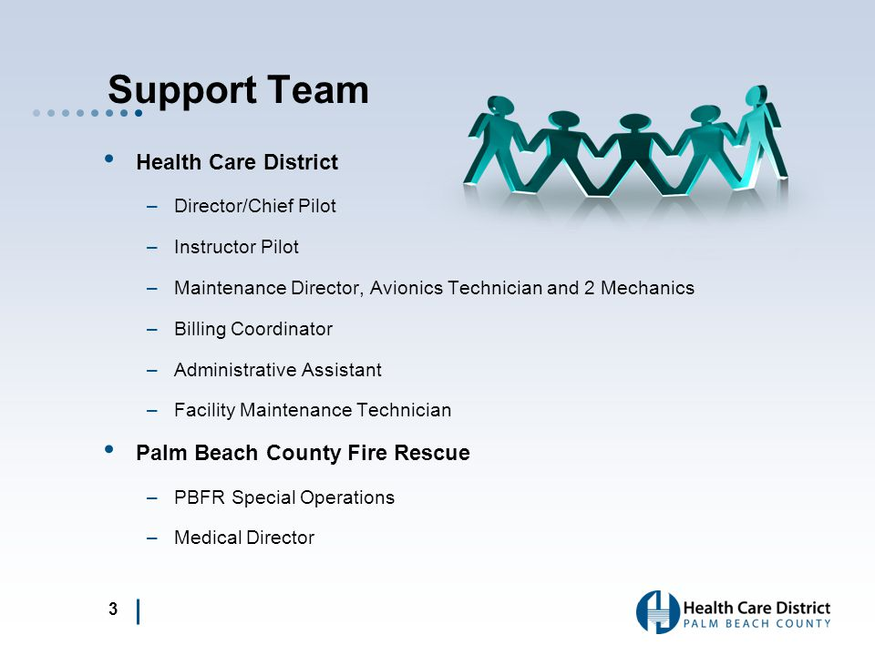 Support Team Health Care District Palm Beach County Fire Rescue