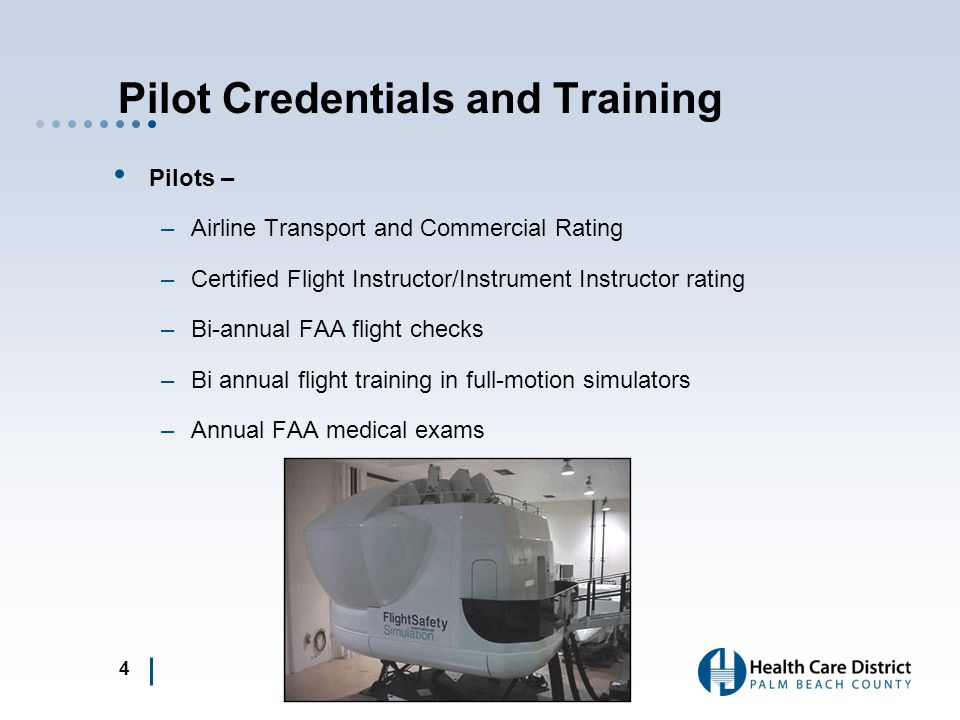 Pilot Credentials and Training
