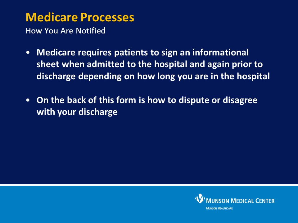 Medicare Processes How You Are Notified
