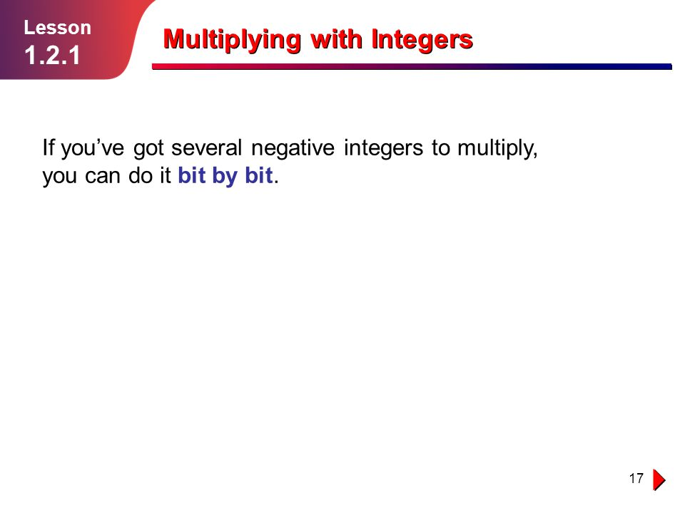 Multiplying With Integers Ppt Download
