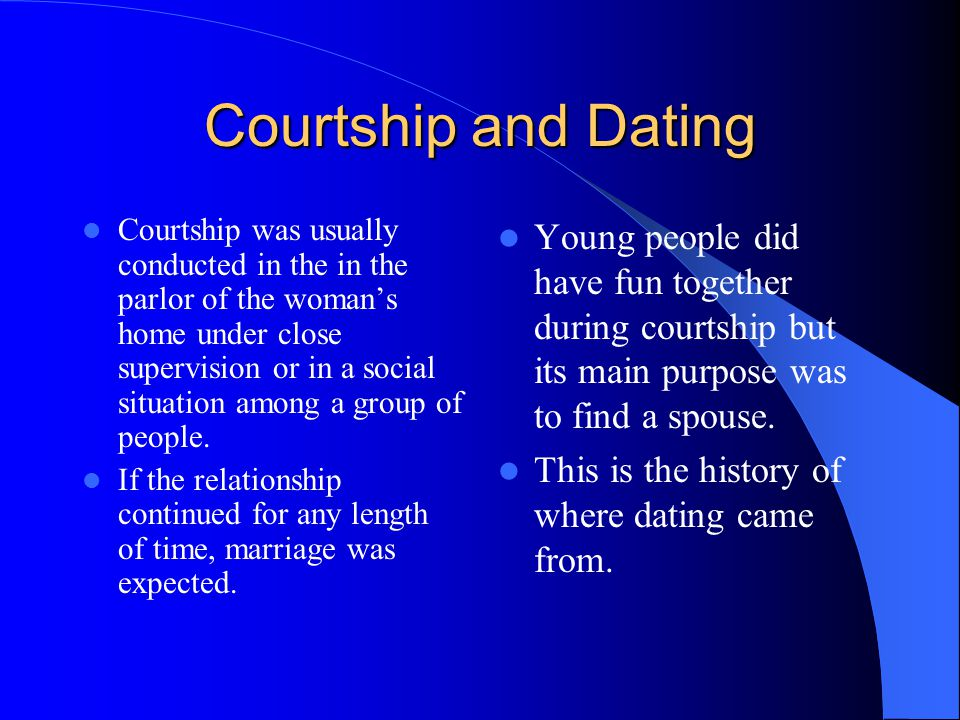 history of courtship and dating