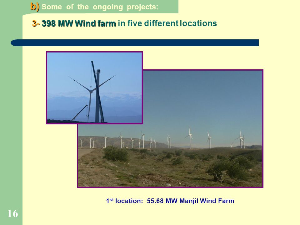 1st location: MW Manjil Wind Farm
