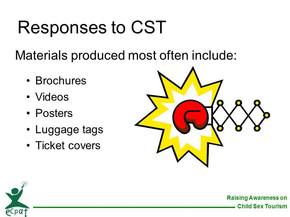 Responses to CST Materials produced most often include: Brochures