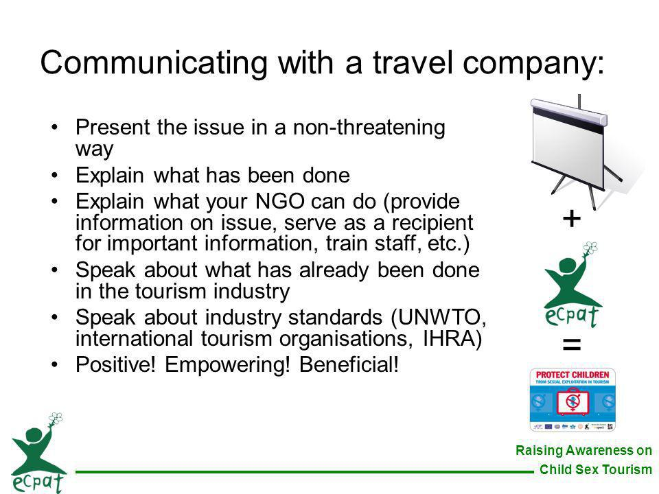 Communicating with a travel company: