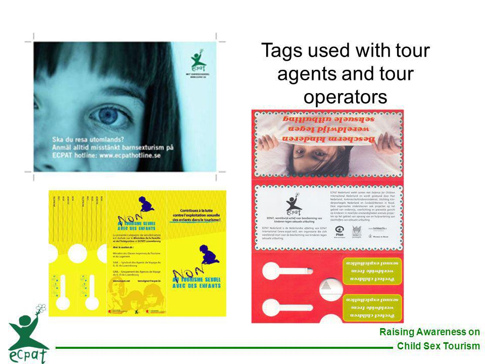 Tags used with tour agents and tour operators