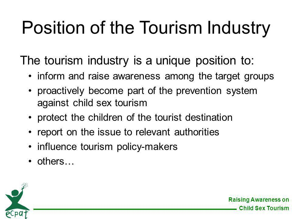Position of the Tourism Industry