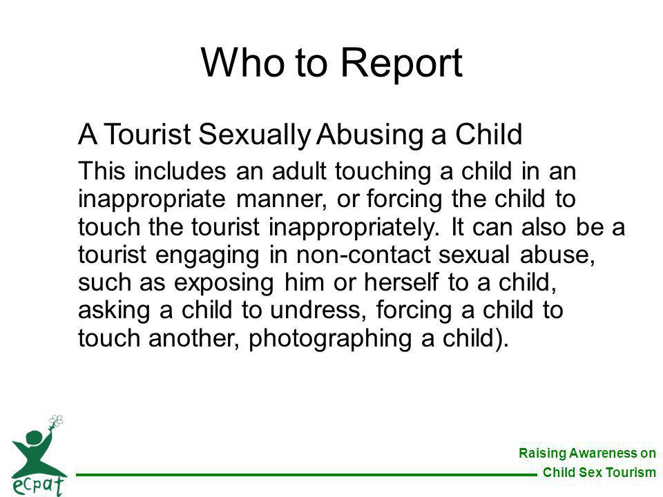 Who to Report A Tourist Sexually Abusing a Child