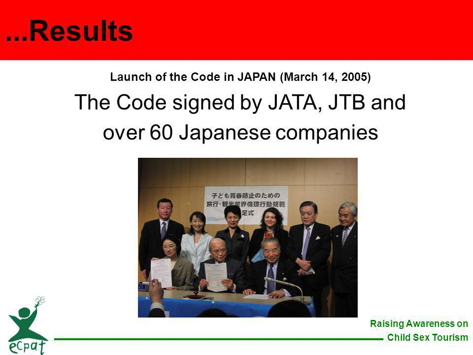 Launch of the Code in JAPAN (March 14, 2005)