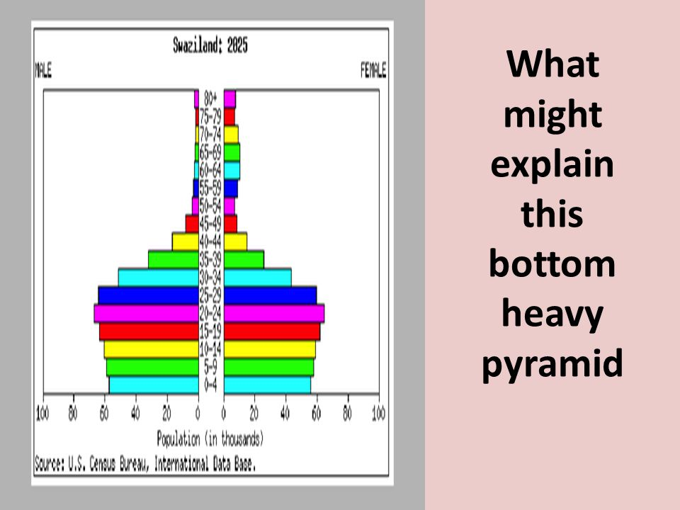 What might explain this bottom heavy pyramid
