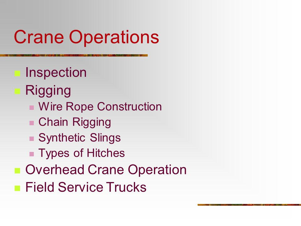 Presentation 3 - Crane Operations - ppt video online download