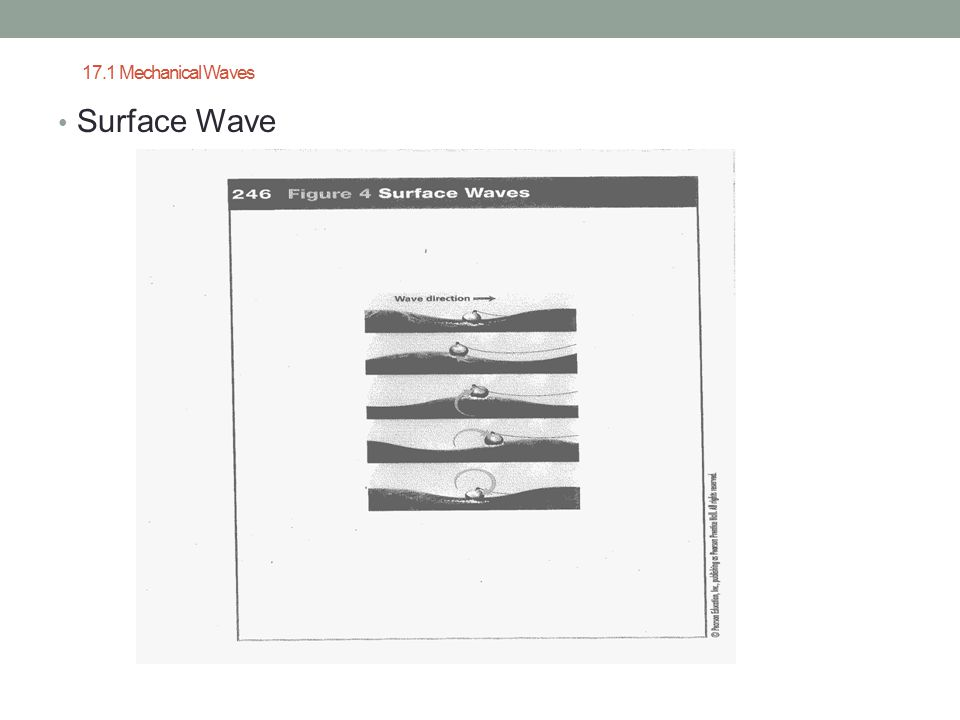 17.1 Mechanical Waves Surface Wave