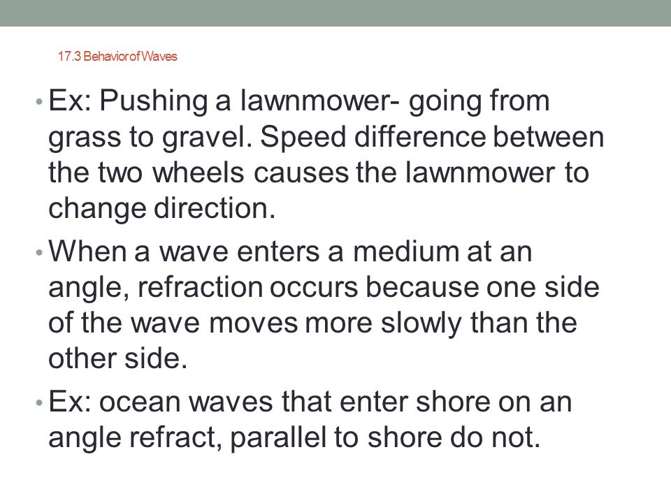 17.3 Behavior of Waves