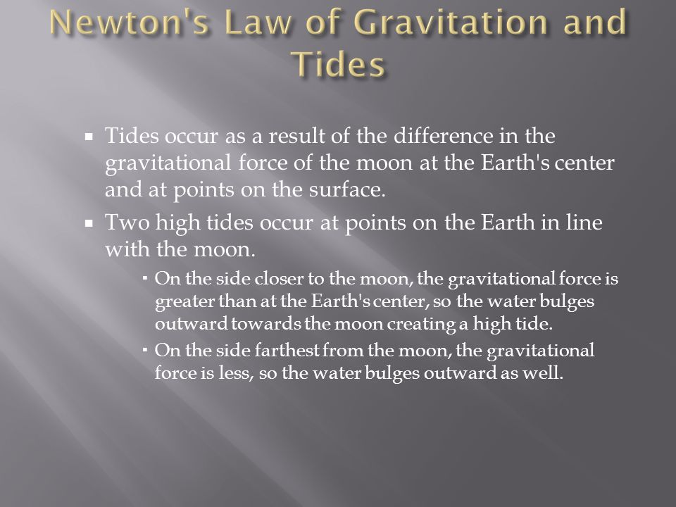 Newton s Law of Gravitation and Tides