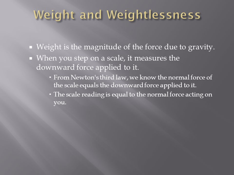 Weight and Weightlessness