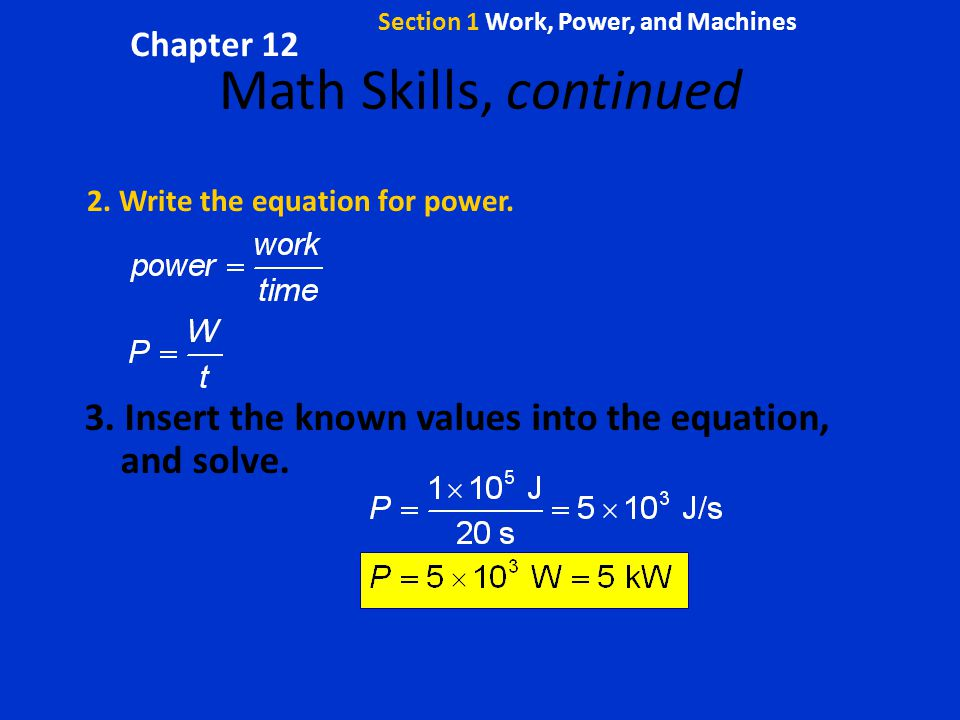 Section 1 Work, Power, and Machines - ppt video online download