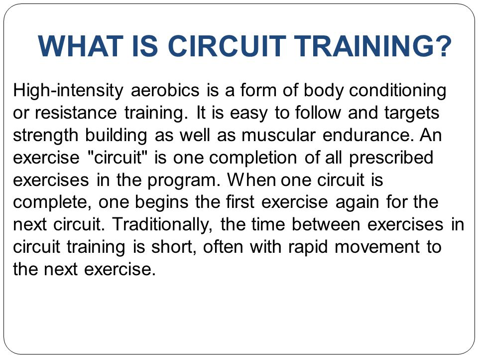 Circuit Training  - ppt video online download