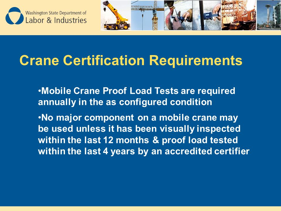 Washington States New Construction Crane Rule Ppt Video Online