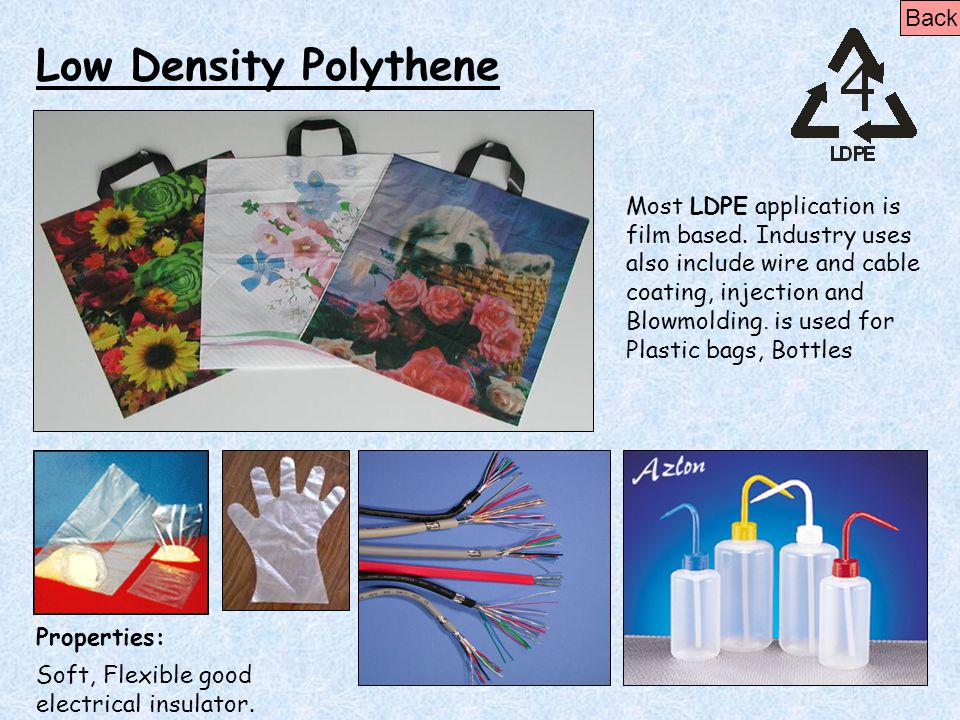Low Density Polythene Back