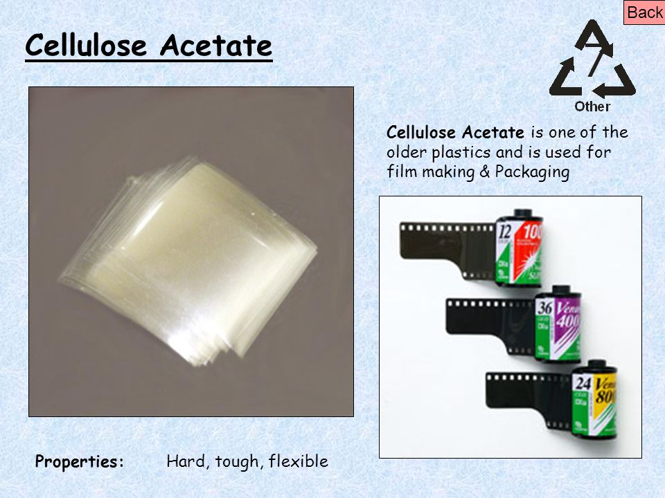 Cellulose Acetate Back