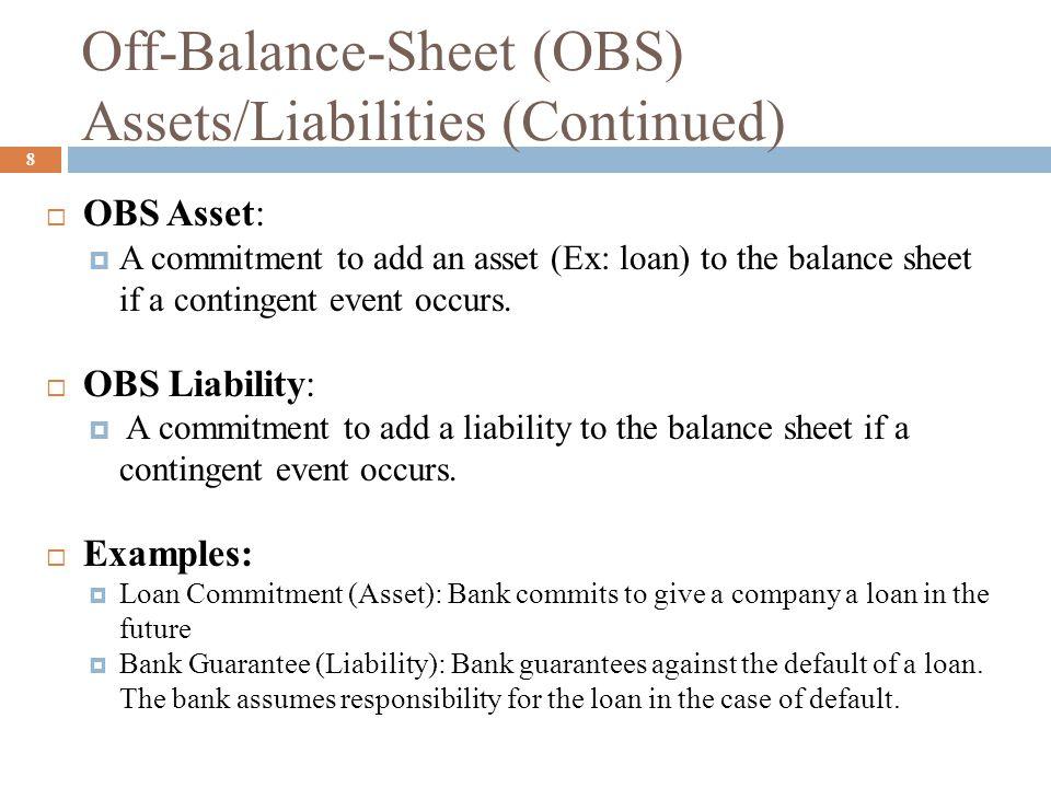 off balance sheet banking ppt download