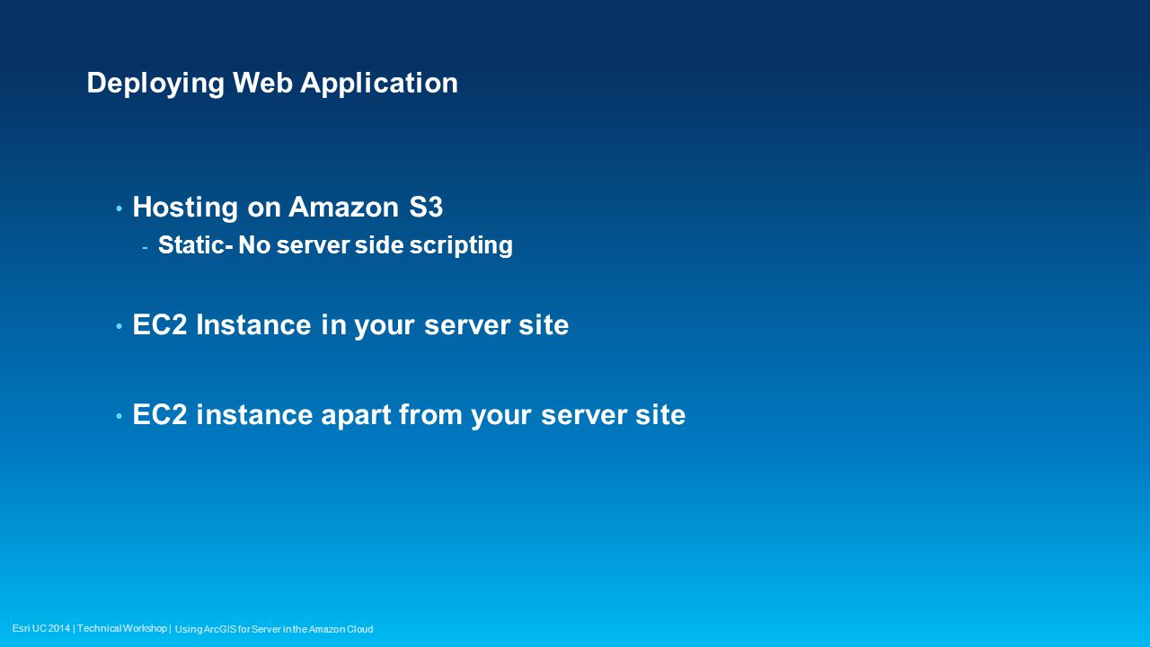 Using ArcGIS for Server in the Amazon Cloud - ppt video