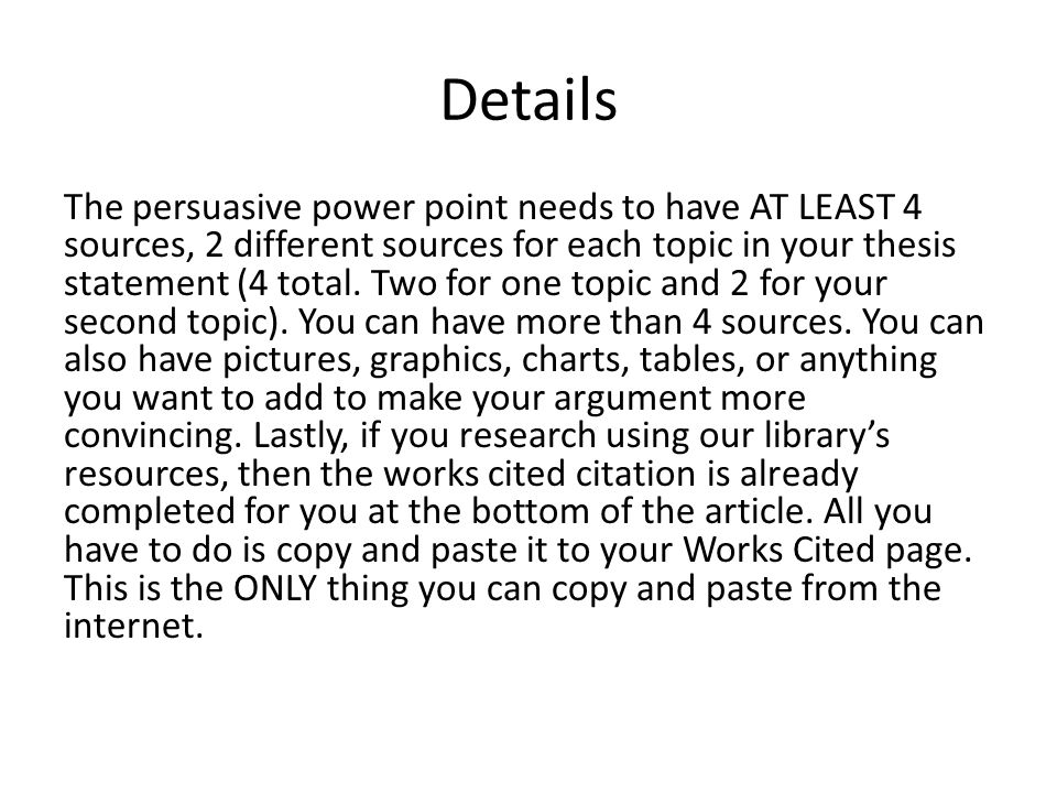 examples of persuasive powerpoint presentations