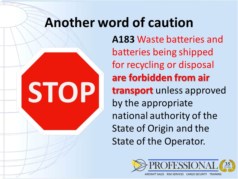 Guidelines For Handling Lithium Batteries As Air Cargo Ppt Download