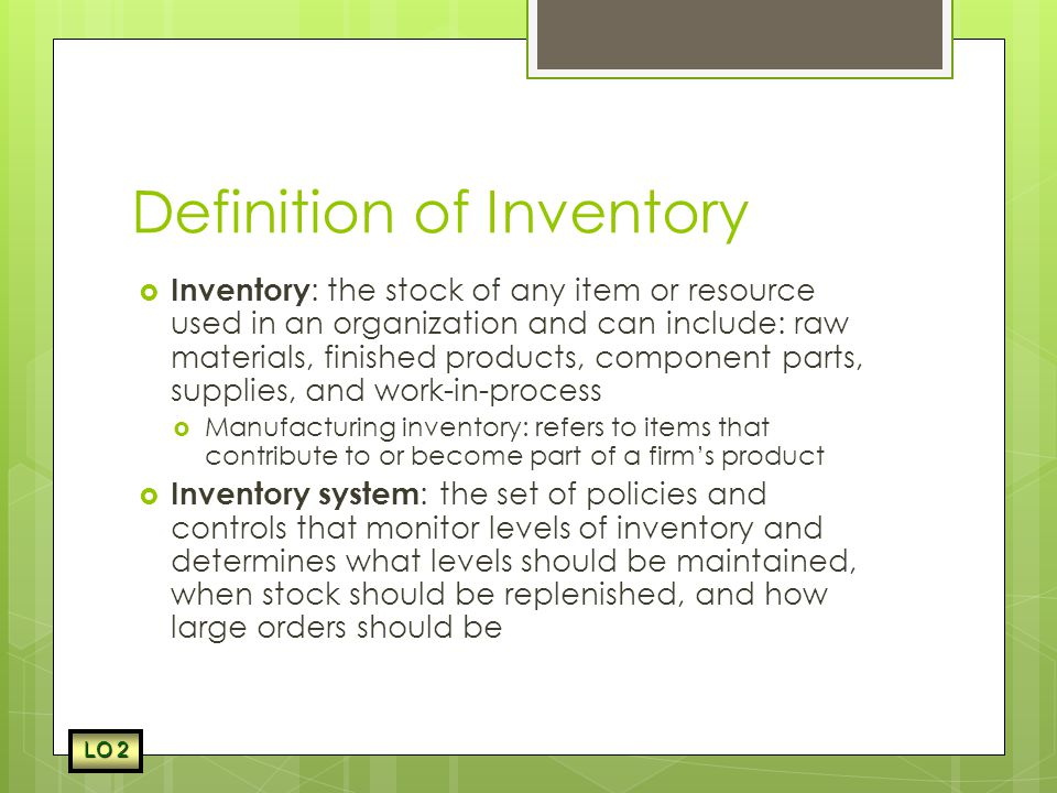 Chapter 17 Inventory Control  - ppt video online download