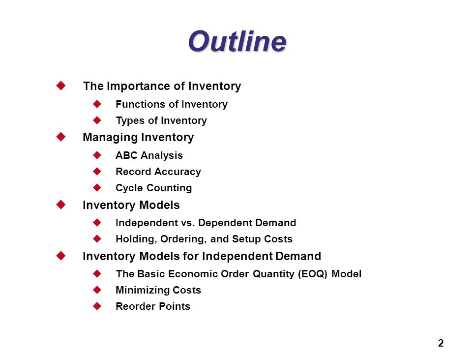 12 Inventory Management PowerPoint presentation to accompany - ppt