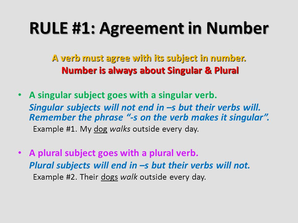 Subject And Verb Agreement Ppt Video Online Download