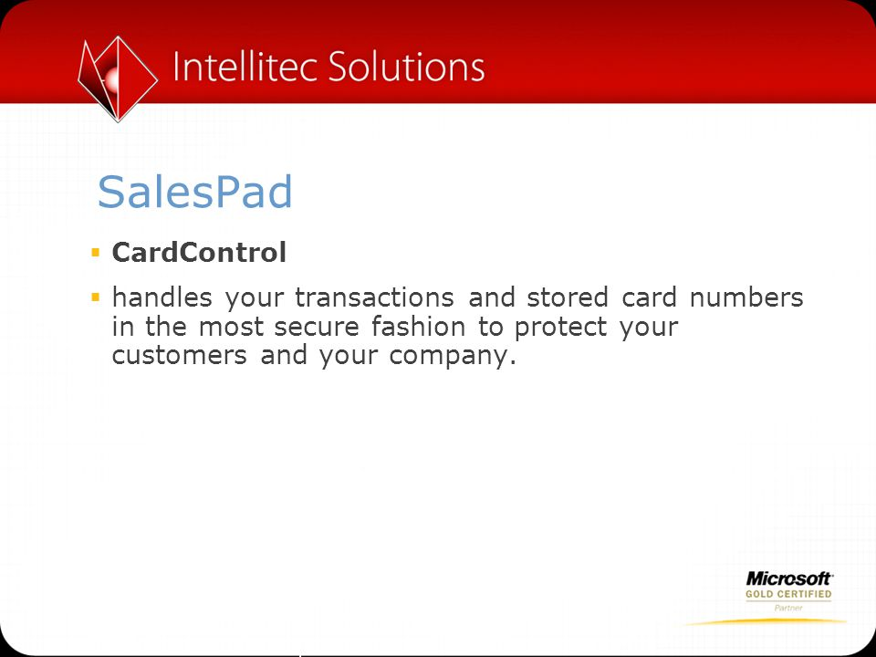 SalesPad CardControl.