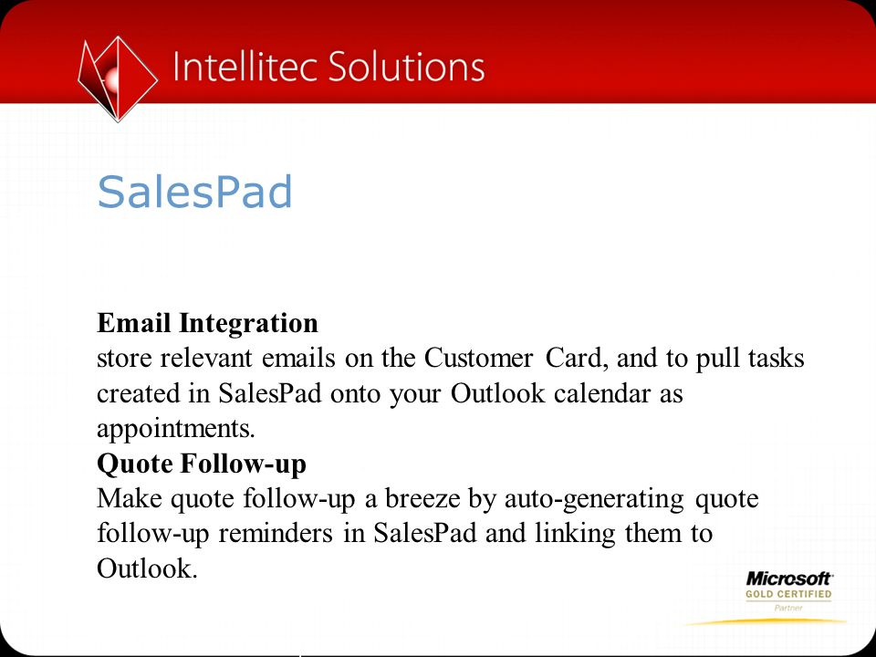 SalesPad  Integration