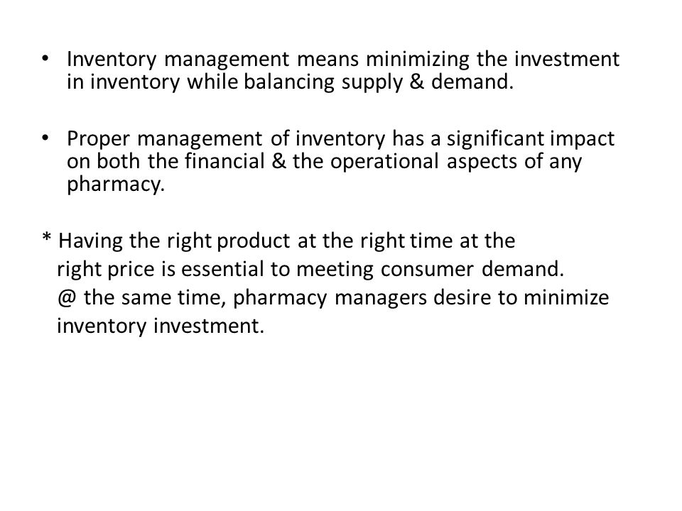 Purchasing and Inventory Management - ppt video online download