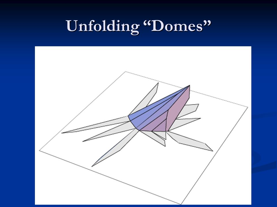 Unfolding Domes