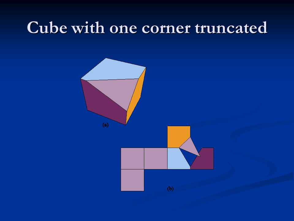Cube with one corner truncated