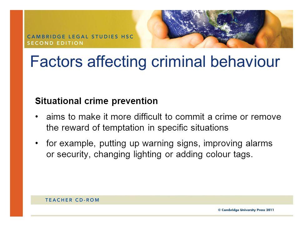examples of criminal behaviour