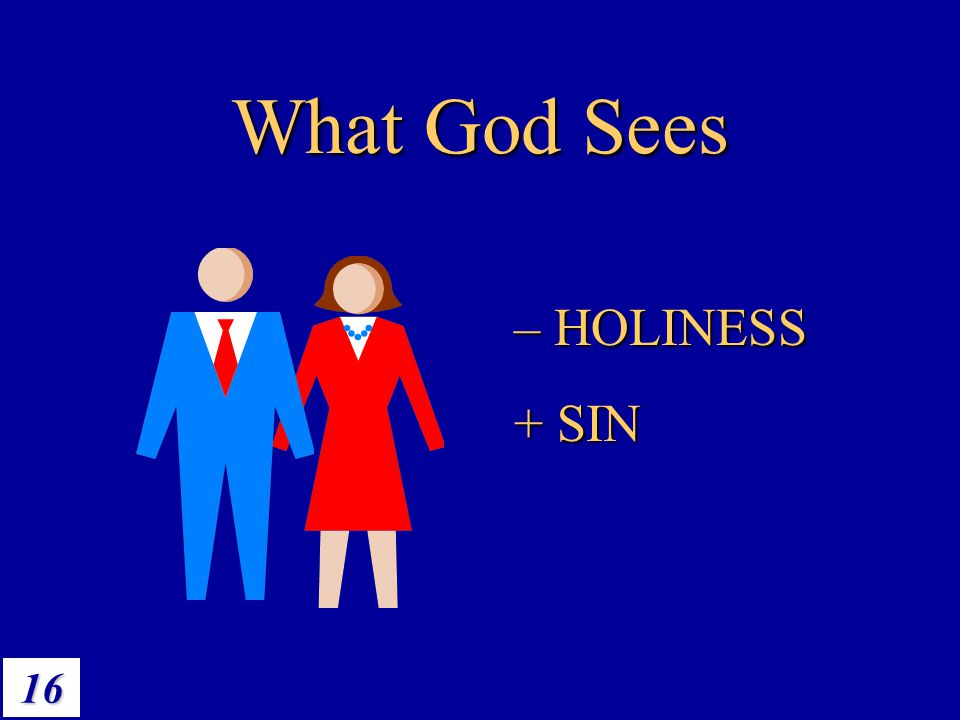 What God Sees – HOLINESS + SIN