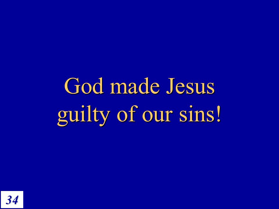 God made Jesus guilty of our sins!