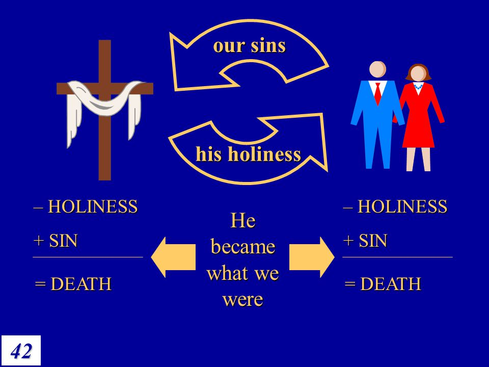 He became what we were our sins his holiness He became what we were