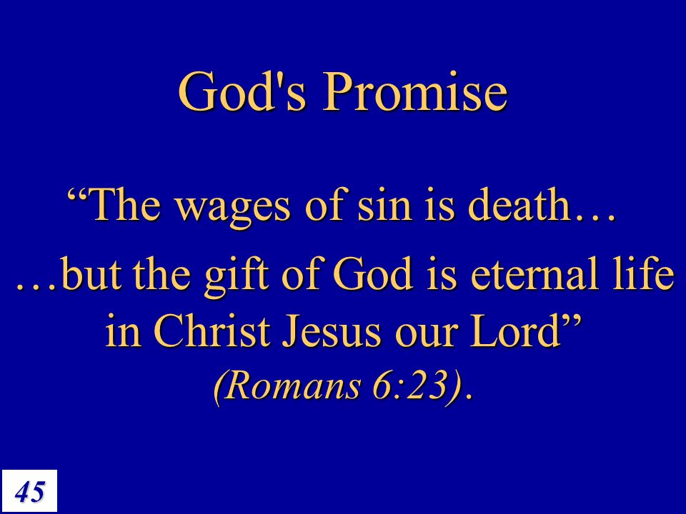 The wages of sin is death…