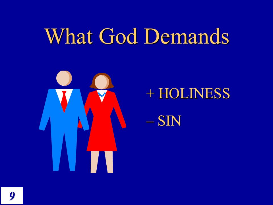 What God Demands + HOLINESS – SIN