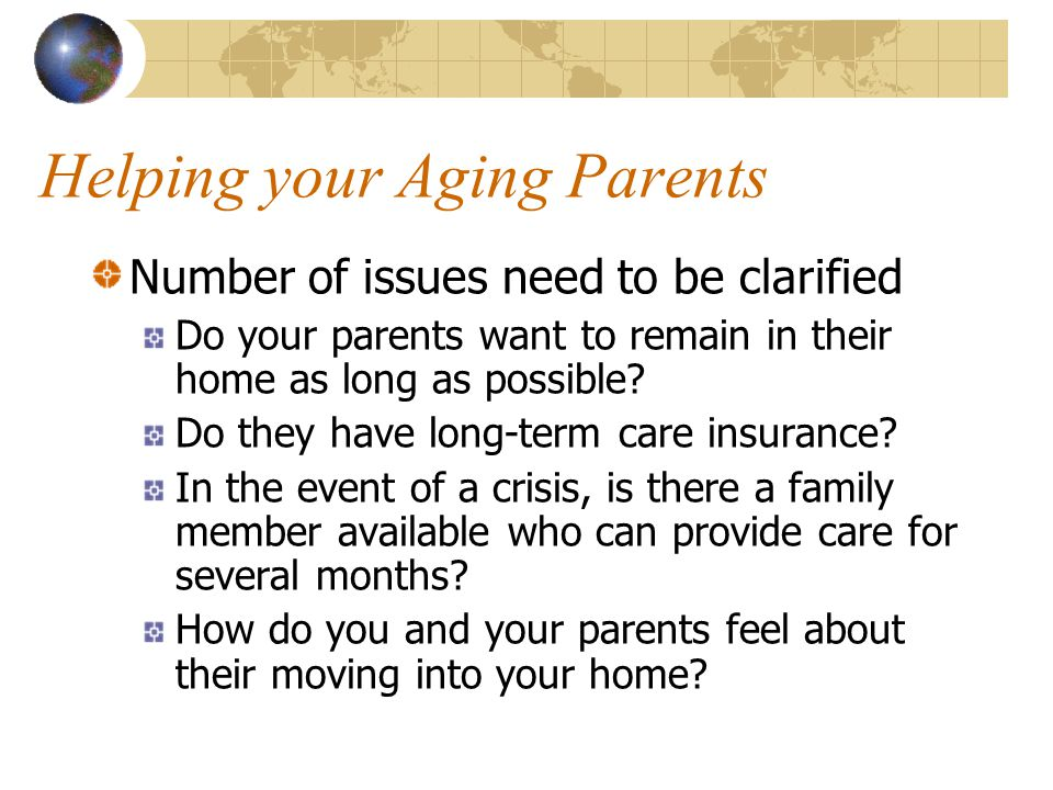 Helping your Aging Parents